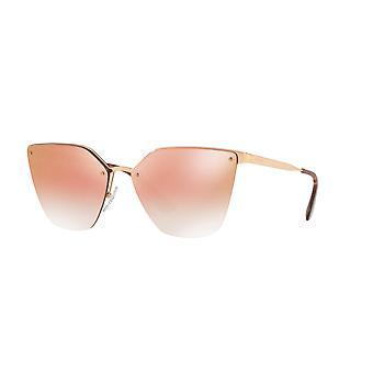 Prada SPR68T SVF/AD2 Pink Gold/Pink Gradient Mirror Sunglasses