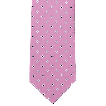 Michelsons of London Simple Flower Neat Polyester Tie - Pink