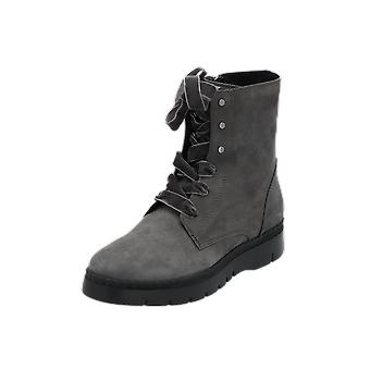 Geox D EMSLEY Women's Boots Grey Lace-Up Boots Winter