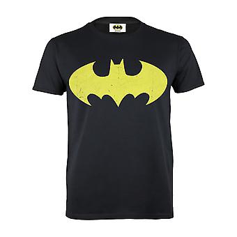 Womens Batman T-Shirt Oversized Geel Logo Boyfriend Fit Officiële DC Comics
