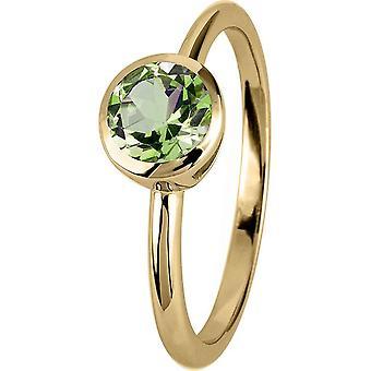 ז'אק למאן-טבעת כסף מצופה זהב עם פרידוט-SE-R101G58-RW: 58