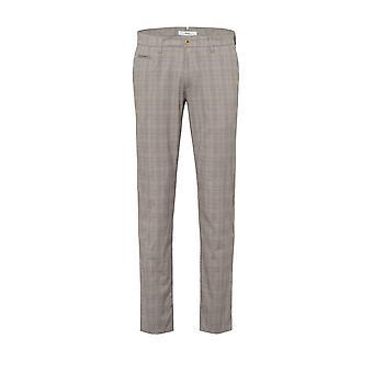 Brax Fey Cotton Trouser Grey/blue Check