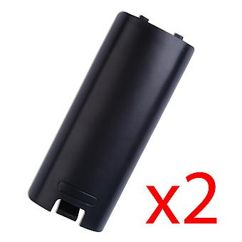 2x Black Battery Wireless Controller Back Cover voor Wii Remote