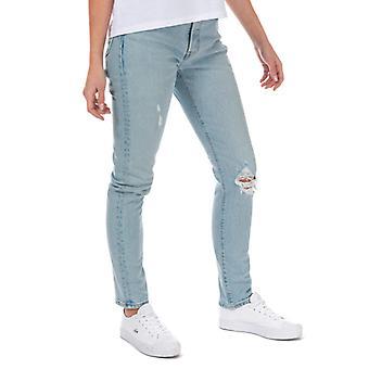 Women's Levis 501 Skinny Low Pro Jeans in Blauw