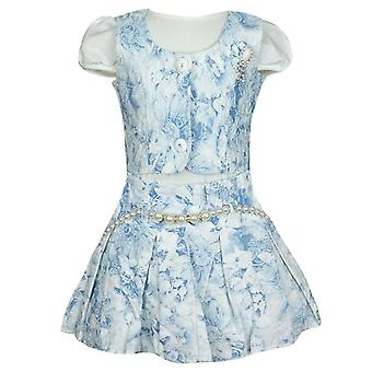 Girls Baby Blue 3 Piece Set - Dress