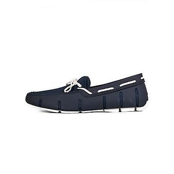 Swims Navy & wit gevlochten Lace loafer