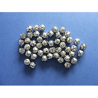 48 Zilveren 13mm Jingle Bells voor Ambachten