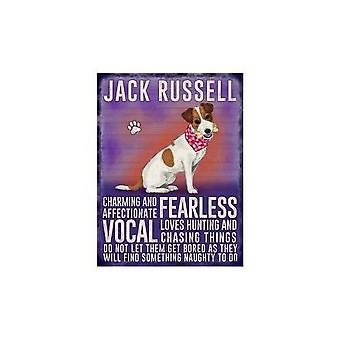Jack Russell Hanging Metal Sign