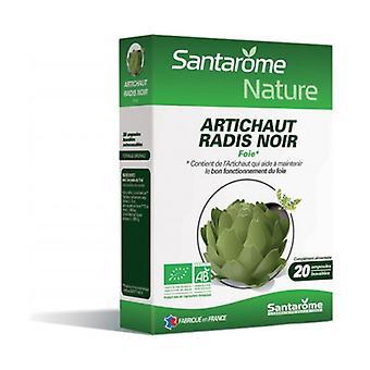 Organic Artichoke & Black Radish 20 ampoules of 10ml
