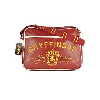 Harry Potter Messenger Bag Gryffindor joukkue quidditch logo uusi virallinen punainen