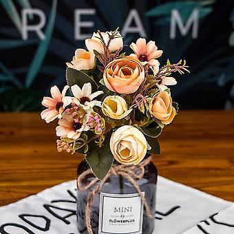 Künstliche Seide Blumen - gefälschte Tee Rose, Gerbera Gänseblümchen für Hochzeit, Haus