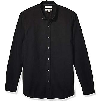 Marke - Goodthreads Men's Langarm Oxford Shirt, schwarz X-Large