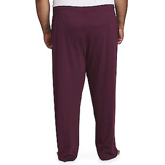 Essentials Men's Big and Tall Knit Pijama Pant fit by DXL, Burgundia, 4...