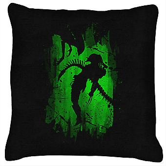 Alien Vs Predator Green Cushion