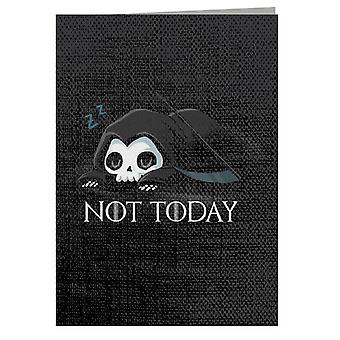 Not Today Sleeping Skull Greeting Card