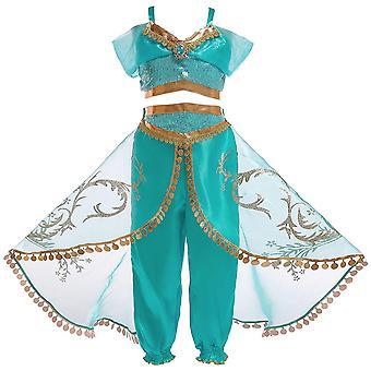 Niñas Aladdin princesa Jasmine vestido elegante vestido Cosplay (niños)
