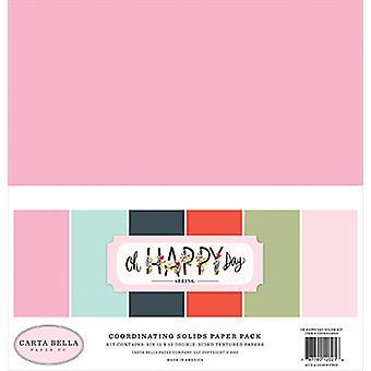 Carta Bella Oh Happy Day 12x12 Tuuman koordinoiva kiinteä paperipakkaus