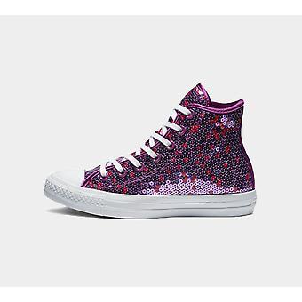 Converse Ctas Hi 562445C Icon Violet Womens Shoes Boots