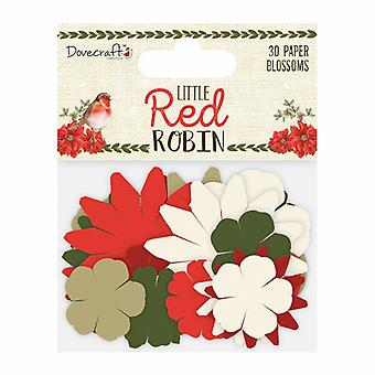 Dovecraft Little Red Robin Paper Blossoms