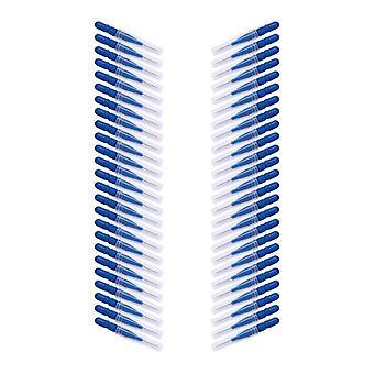 50 جهاز كمبيوتر شخصى Floss العصي الأسنان خيط رئيس - الفم النظافة الأسنان الخيط لينة بلاستيك