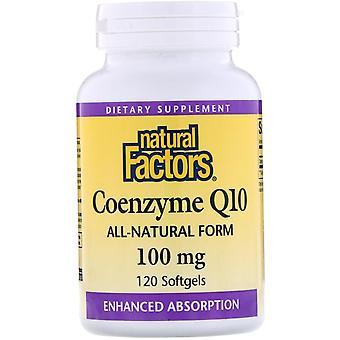 Natural Factors, Coenzyme Q10, 100 mg, 120 Softgels