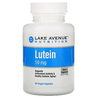 Lake Avenue Nutrition, Lutein, 10 mg, 60 Veggie Capsules