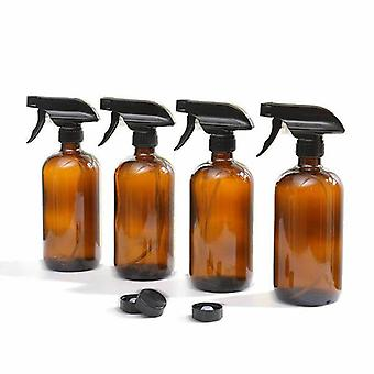 6X 500Ml Amber Glass Spray Bottles Trigger Water Sprayer Aromatherapy