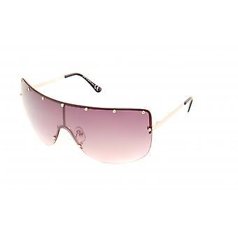 Gafas de sol Mujeres rectangulares marrón claro/oro (20-007)