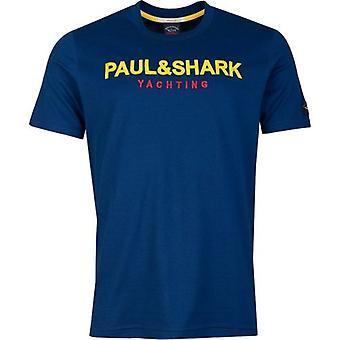 T-shirt Paul and Shark Brodded Chest Logo