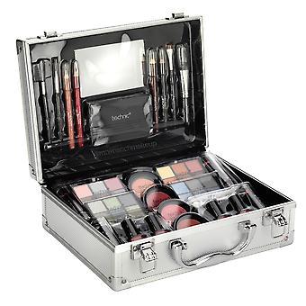 Technic Large Aluminium Beauty Train Case With Cosmetics