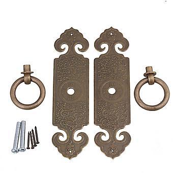 2pcs Bronze 12 x 3.2cm Door Strip Pull Handle W/ Screws