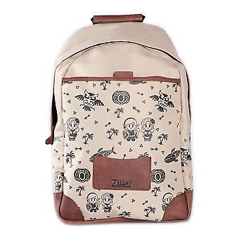 Nintendo Legend of 'elda Link's Awakening Backpack Unisex Tan/Brown BP631457