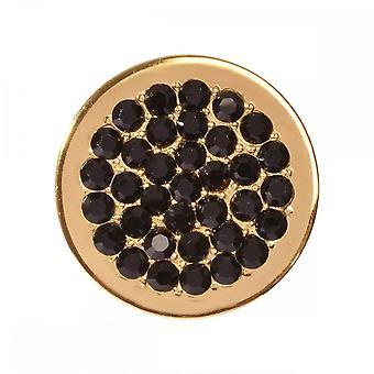 Nikki Lissoni mustat Pisteet pieni kullattu kolikko C1282GS