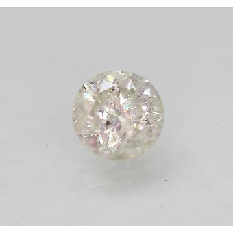 Cert 0.70 Carat I Color Round Brilliant Enhanced Natural Loose Diamond 5.42mm