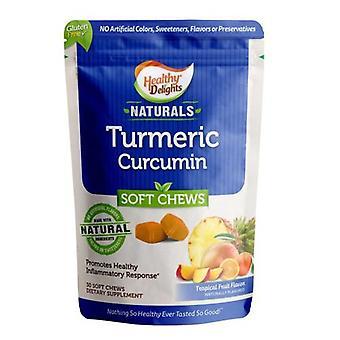Healthy Delights Turmeric Curcumin, 30 Chews