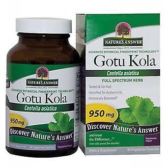 Luonto's Vastaus Gotu-Kola Herb, 90 Caps