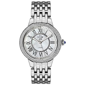 Gv2 Tekijä Gevril Women's 9140 Astor II Diamond MOP Dial Stainless Steel Watch