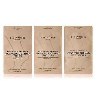 Dermavitamins Advanced Foot Mask Bag - Repairs Dry Feet Treatments (Peel / Mositure / Exfoliate)eatment) …