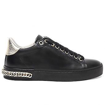 Women's Stokton 740 White Sneaker with Gold Chain