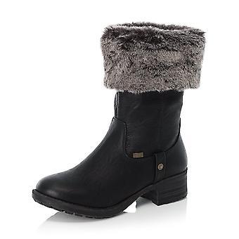 Rieker 96854-00 Melinda Riekertex Winter Mid Boots In Schwarz