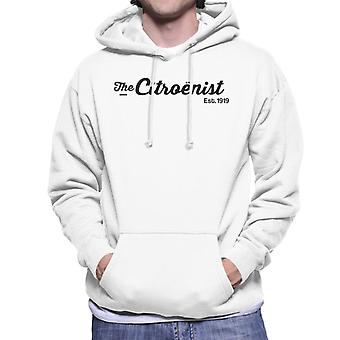 Citro?n The Citro?nst Est 1919 Black Logo Men's Hooded Sweatshirt