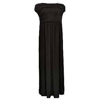 Belle Beach by Kim Gravel Dress Knit Coverup Tube W/ Pockets Black A378635
