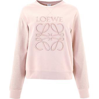 Loewe S359341xa87739 Kvinder's Pink Cotton Sweatshirt