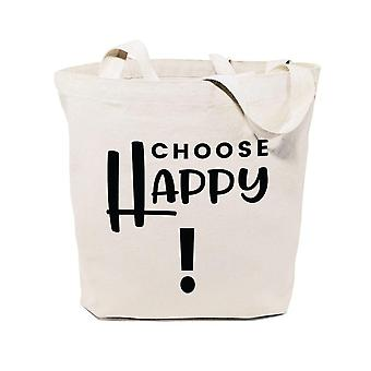 Choose Happy-cotton Canvas Tote Bag