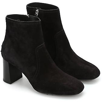 Tod's ankle boots with high heels in black suede