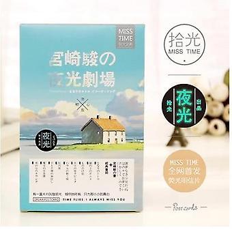 Hayao Miyazaki Luminous Theatre Postikortti, Tervehdys, Toivekortti, Joulu ja