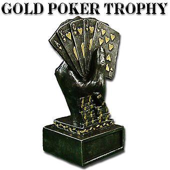 Gold Metal Poker Trophy