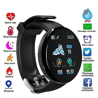 שעון חכם עגול Bluetooth, לחץ דם, גשש ספורט, אנדרואיד