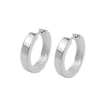 Hoop Earrings 19x4mm Silver 925