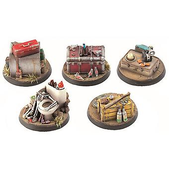 Fallout Wasteland Warfare Terrain Expansion Mål Markörer 1